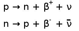 Beta-plus-Zerfall setzt ein Neutrino frei Beta-minus-Zerfall setzt ein Antineutrino frei